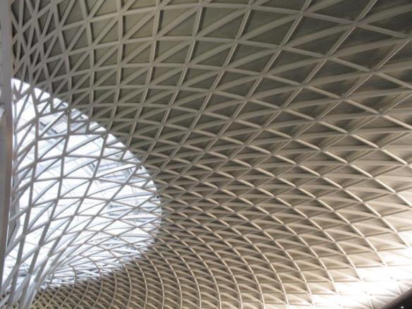 Ceiling of Kings Cross Station, London