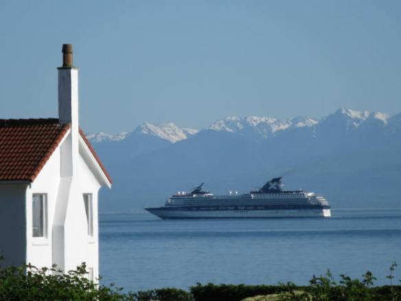 Cruise Ship in Juan de Fuca Strait, Victoria